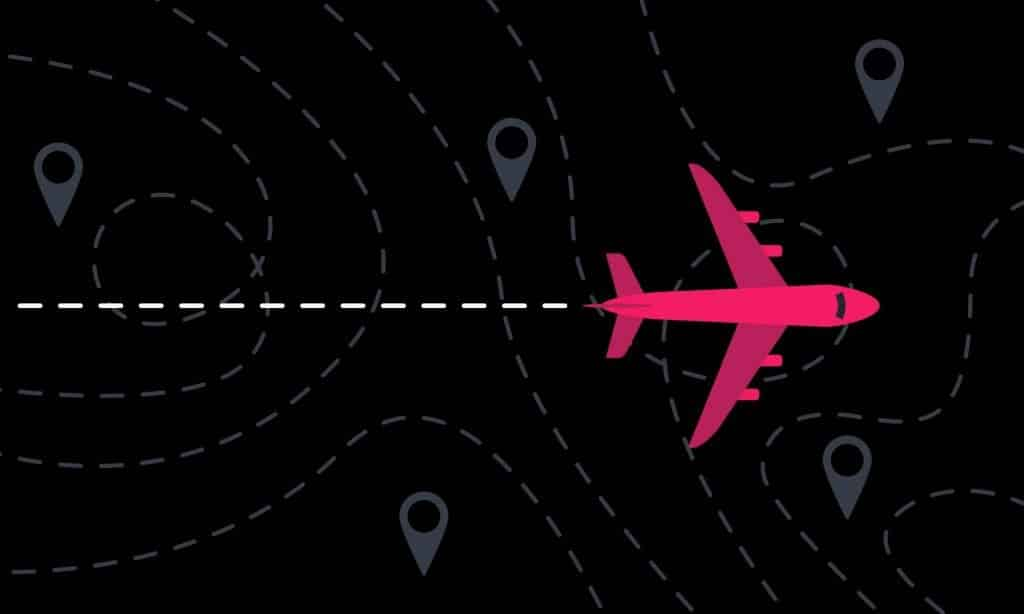 graphic-airplane-with-path-markers